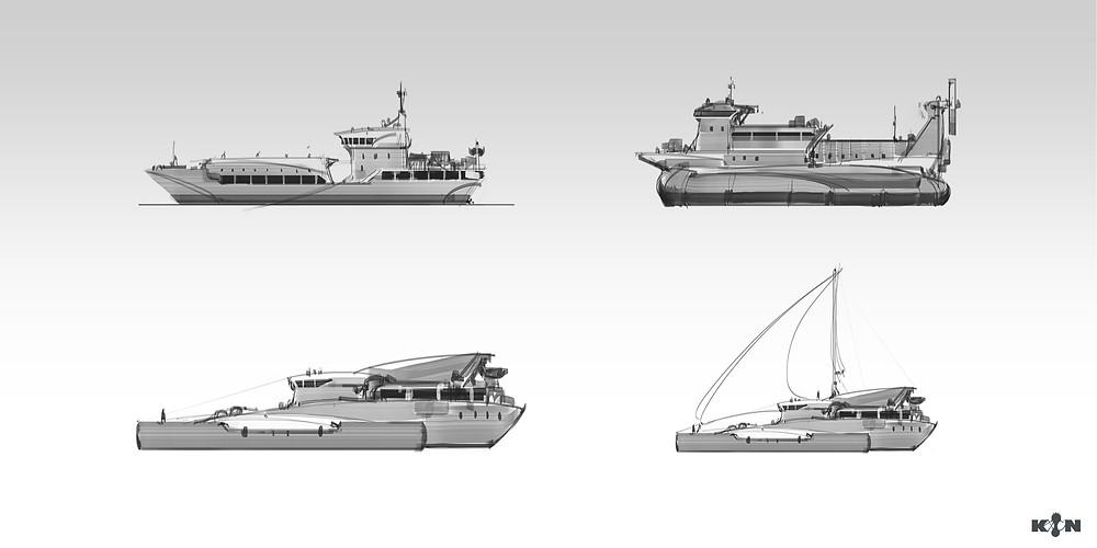 KIN – Mycocene | Shuttle boat sketches
