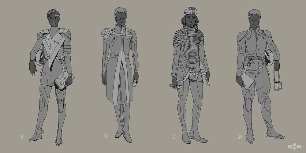 KIN – Mycocene | Nao design sketches