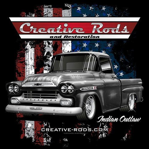 Creative Rods Short Sleeve Indian Outlaw T-shirt