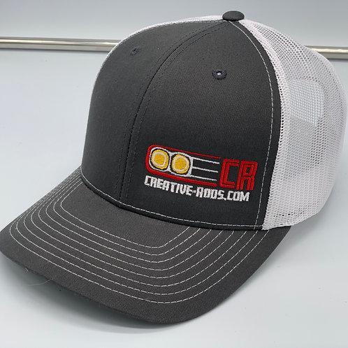Creative Rods Trucker Structured Mid Profile Short Logo Hats