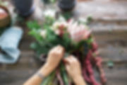 Florist at work_ pretty young blond woma
