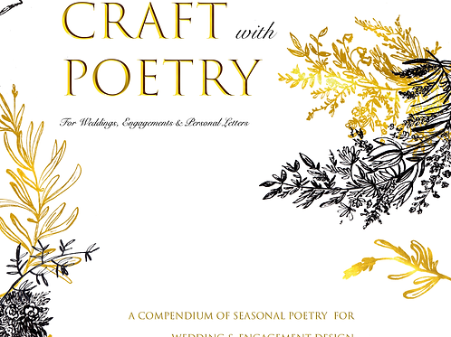 Craft with Poetry for Wedding & Engagement Design-Hardcover Copy