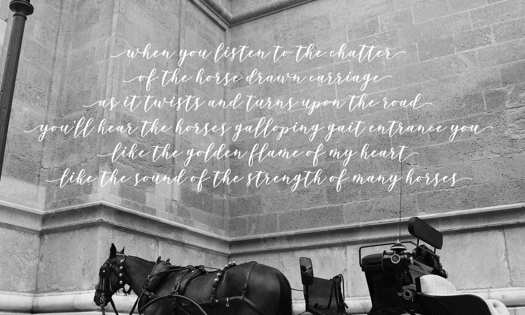 The Carriage Awaits