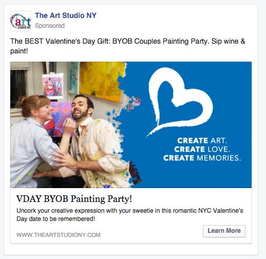 The Art Studio NY Facebook Ad