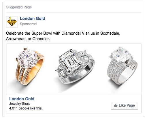 London Gold Facebook Ad