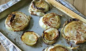 Garlic Rubbed Cabbage Steak