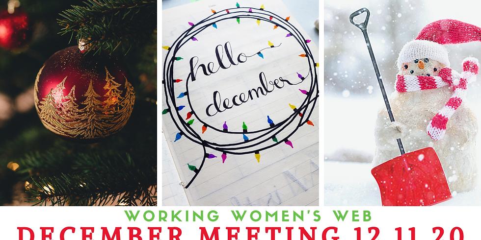 Working Women's Web December Meeting