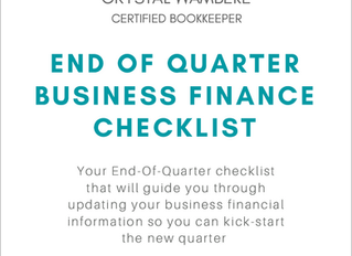 End of Quarter Finance Checklist