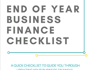 End of Year Business Finance Checklist