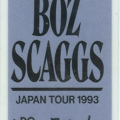 Boz Scaggs Japan 93