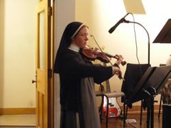 Sr Ilaria playing the Violin