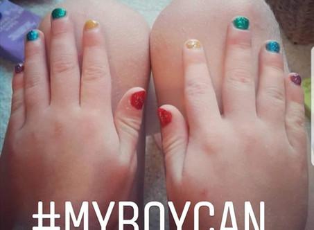 Can boys wear nail varnish?