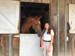 Ava with horse