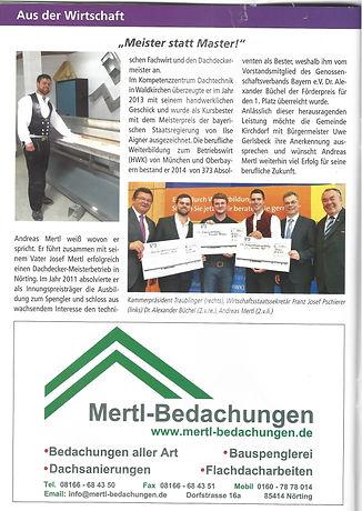 Gemeindezeitung Kirchdorf Dachdeckermeis