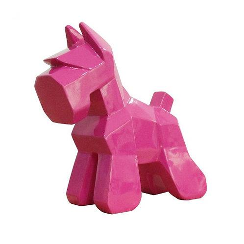 Schnauzer geométrico rosa