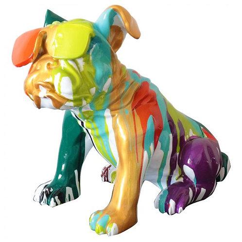 Bulldog Sentado Dorado