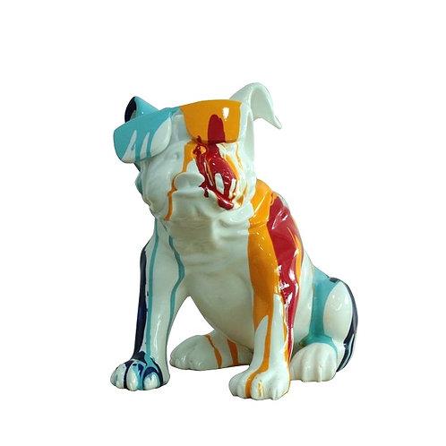 Bulldog sentado