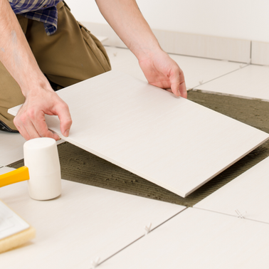 Tile servicing and laying