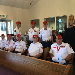 Bonnyman Marines at the church