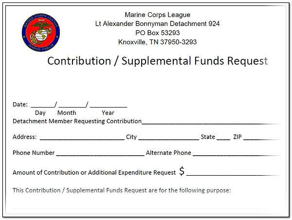 Det 924 Bylaws Supplental Funds Request.