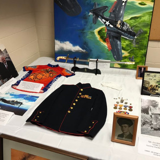 Display of Joe's Memorabilia