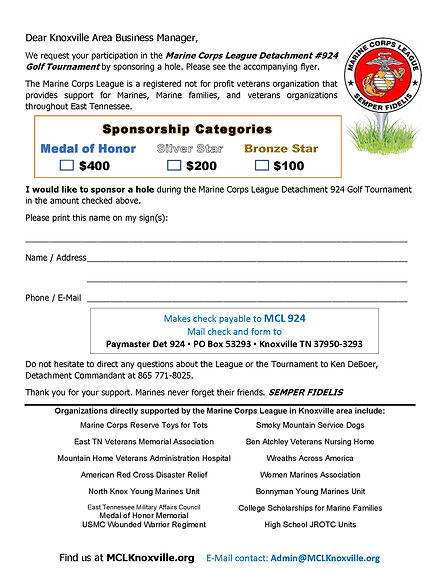 Golf Tournament June 5 2021Hole Sponsor
