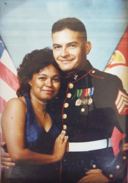 Carlos and Mrs Reyes,  Marine Corps Ball