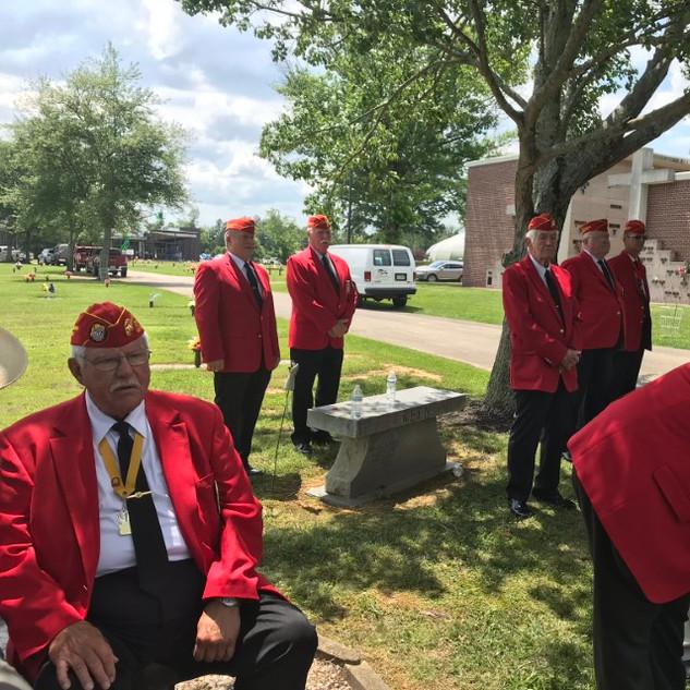 Bonnyman Marines at the grave site