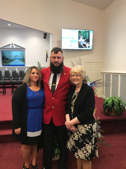 Mattie with Aaron and Jennifer Brown