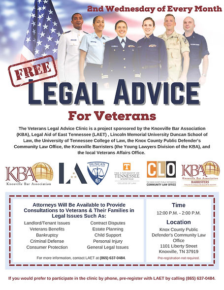 Veterans Legal Advice Clinic Every 2nd Wed.jpg