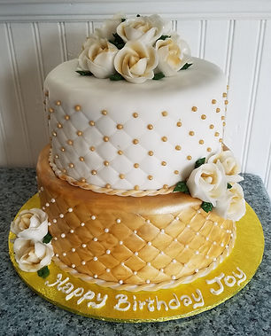 2 Tier gold-white b-day cake.jpg