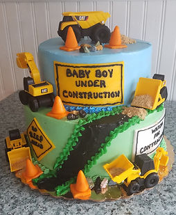 Construction Site Babay Shower Cake