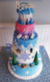 5 Tier Frozen Birthday cake.jpeg