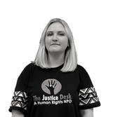 Jessica Dewhurst - Founder and Board Member   Jessica Dewhurst is the founder and CEO of The Justice Desk. She also serves as a Board Member.