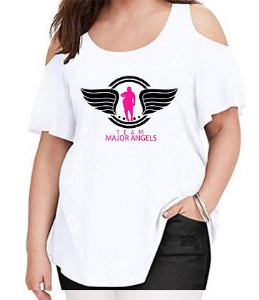 TEAM MAJOR ANGELS OPEN SHOULDER TEE