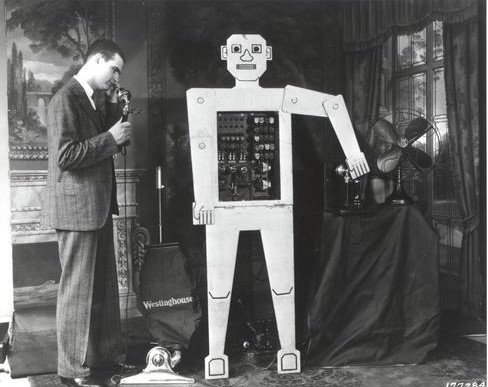 This image is of the first robot ever made