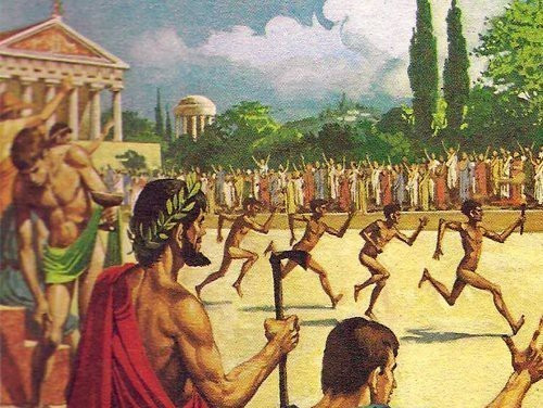 This image is of the ancient olympic games in Greece.