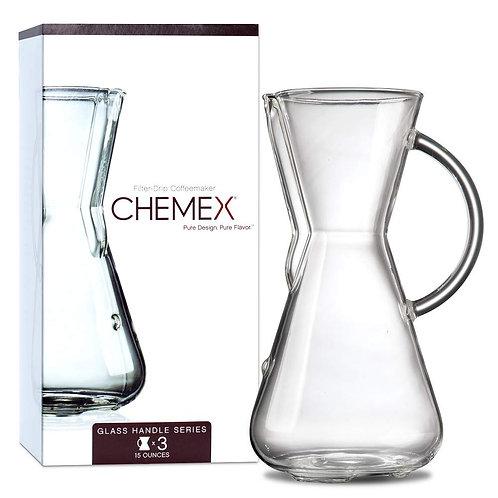 Chemex 3 Cup Glass Handle Coffee Maker