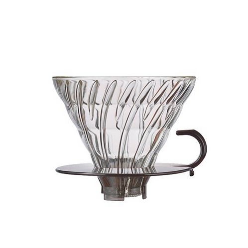 Hario V60 02 Glass Transparent Black