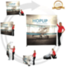 Event Trade Show Hopup Fabric Display Marietta Kennesaw Woodstock, GA