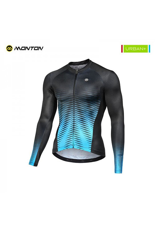 Long Sleeve Jersey Urban Spirit Black Blue