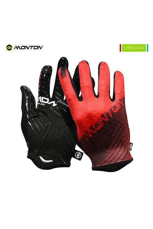 Gloves Urban Full Finger Prato Black Red