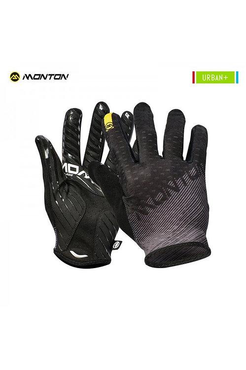 Gloves Urban Full Finger Prato Gray Black