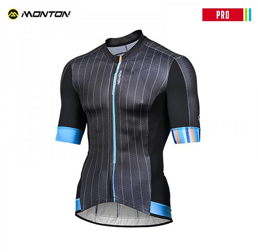 Short Sleeve Jersey Pro Gessato Black