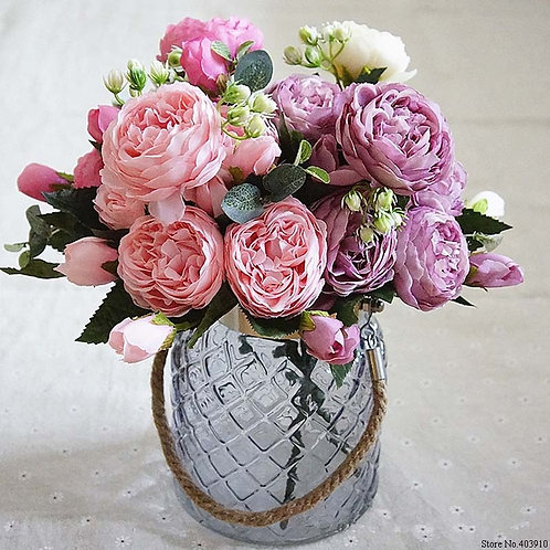 Artificial Peony Flowers for Decoration