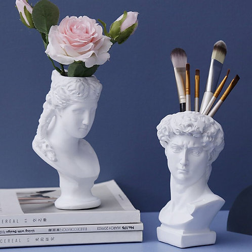 Abstract Plaster Statue Flower Pots Office Desk Home Decor