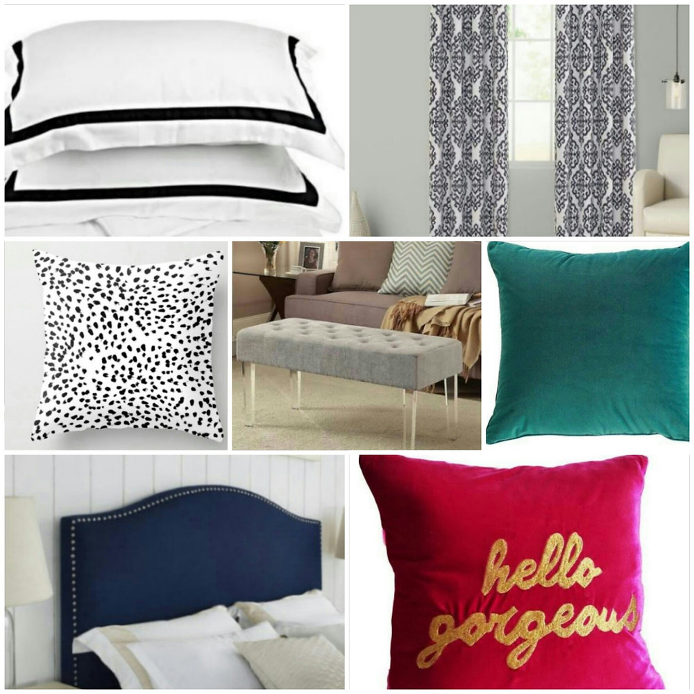 Luxe home decor for less. Bedroom makeover on a budget