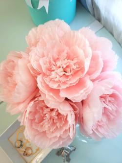 Silk Peonies Floral Bouquet