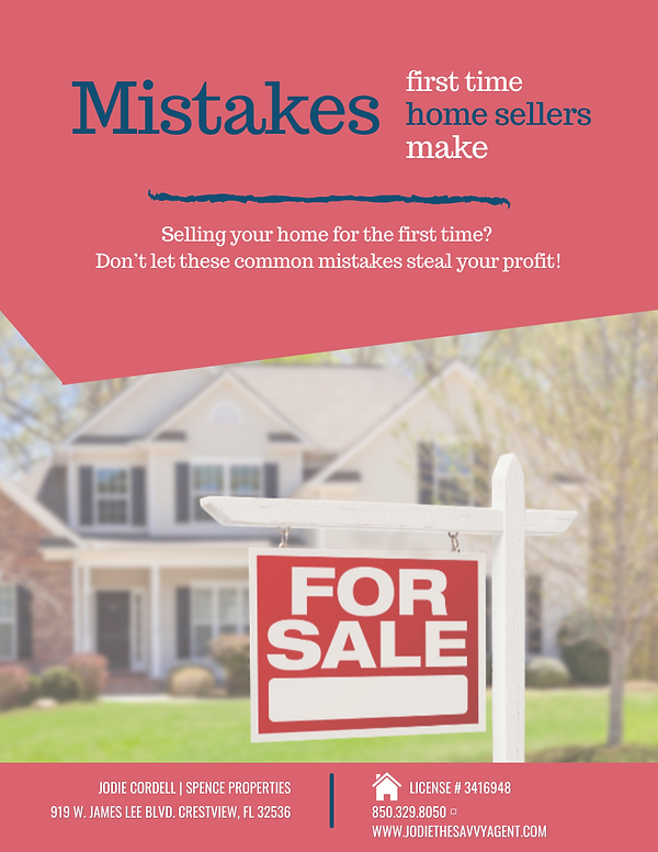Mistakes first time home sellers make.pn