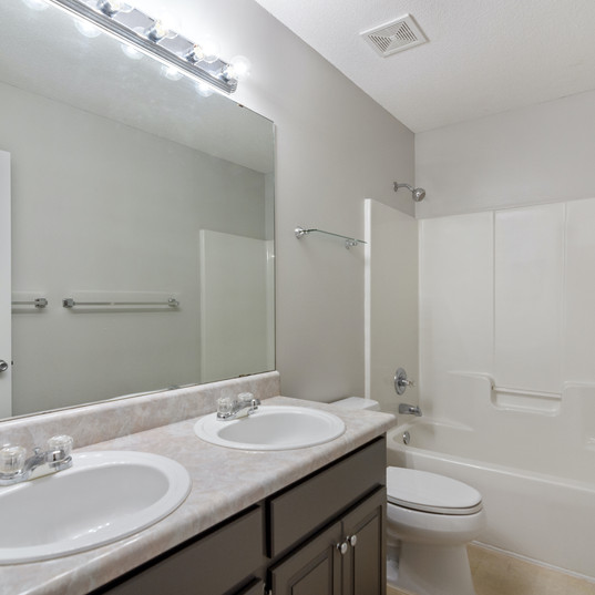 Hall Bathroom with Double Vanity